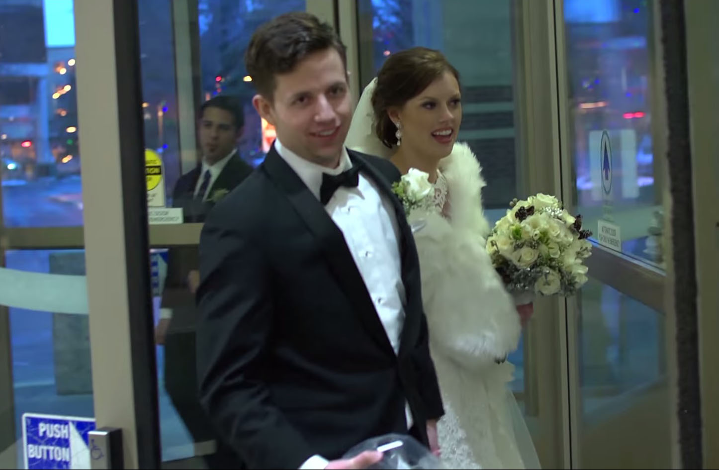 Newlyweds stop by hospital for the CUTEST reason