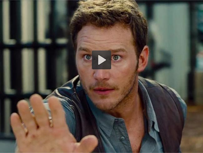 Chris Pratt is gorgeous and brave in new Jurassic World trailer