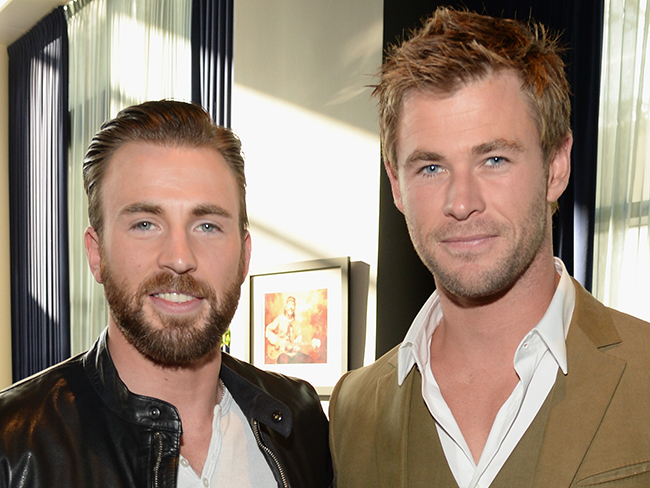 Chris Evans and Chris Hemsworth determine who has bigger biceps