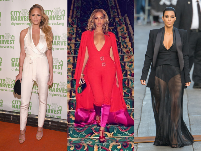 Celebrities wearing things in May