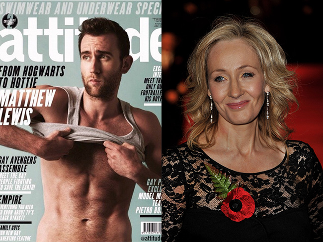 JK Rowling just hilariously responded to Neville Longbottom's raunchy new pics