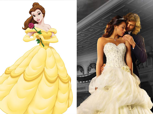 Disney Princess wedding dresses are a thing now