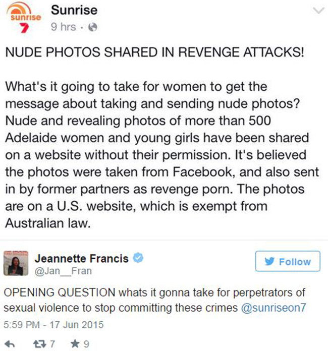 a adelaide women fall victim to us revenge porn site