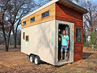 Check out the compact $20K home this university student built