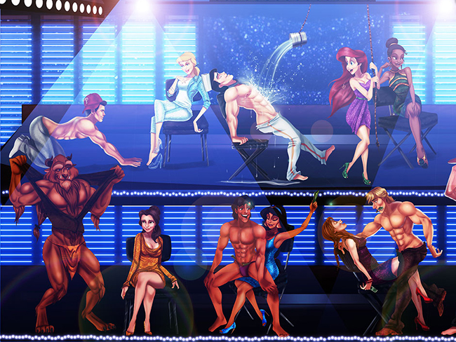 Disney Princes as 'Magic Mike' strippers is so wrong it's right