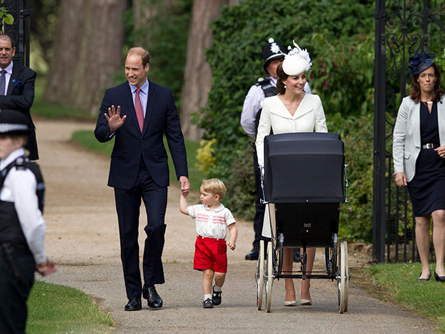 All the picture from Princess Charlotte's christening