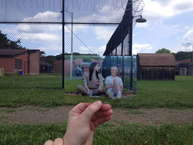 This teen broke into the OITNB set for a Tumblr photo series
