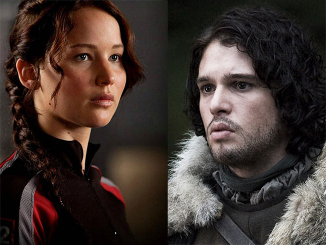 Katniss Everdeen really wants to kill Jon Snow in this Hunger Games and GoT mashup