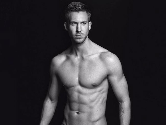 Calvin Harris strips down to his underwear and it's glorious