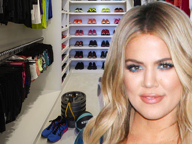 Khloé Kardashian's workout walk-in wardrobe is what dreams are made of