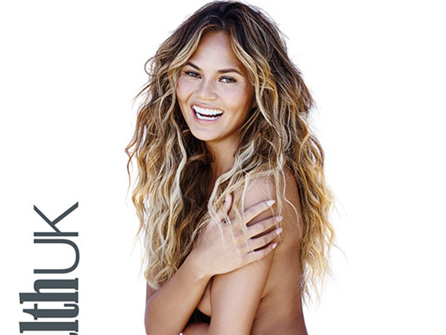 Chrissy Teigen is nude for Women's Health UK, reveals she works out so she can eat whatever the heck she wants