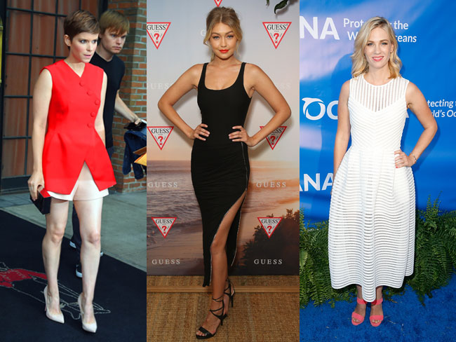 Celebs wearing things in August