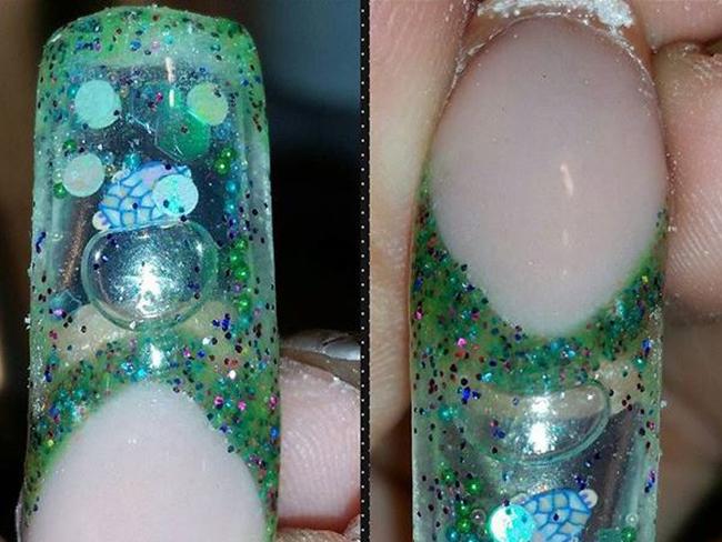 Aquarium nails are now a thing : Cosmopolitan