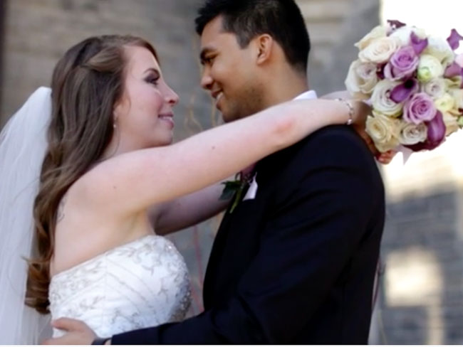 Couple share gorgeous wedding video before groom passes away from terminal cancer