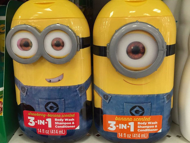 The Minions body wash is here to traumatise you for life