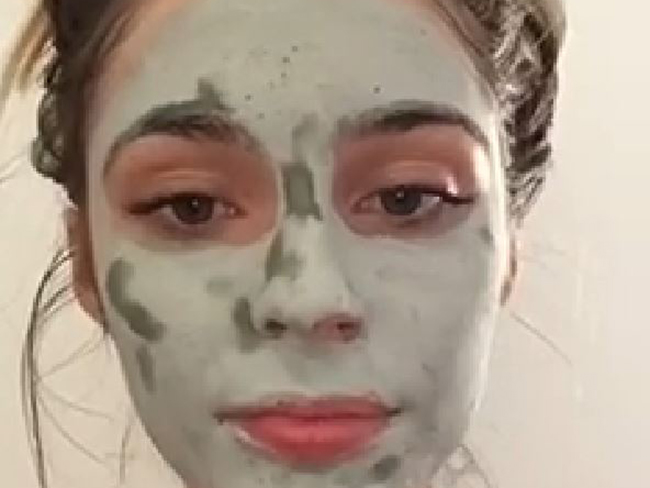 Watch a mud mask draw impurities to the skin's surface