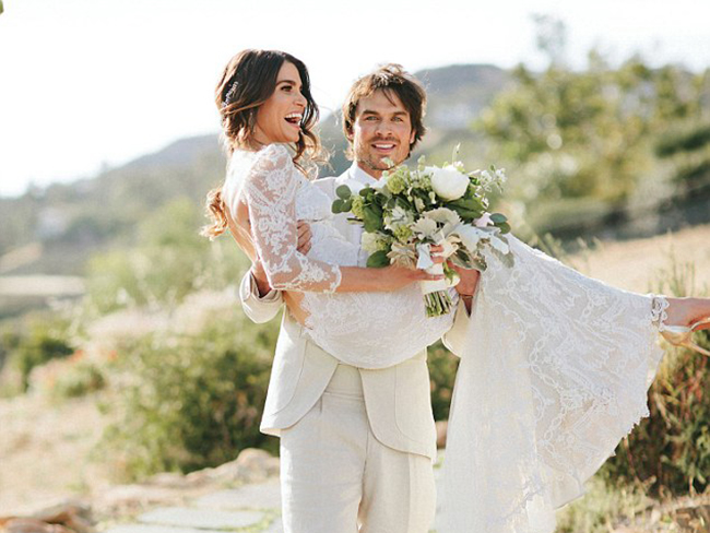 Nikki Reed and Ian Somerhalder have finally shared their wedding photos