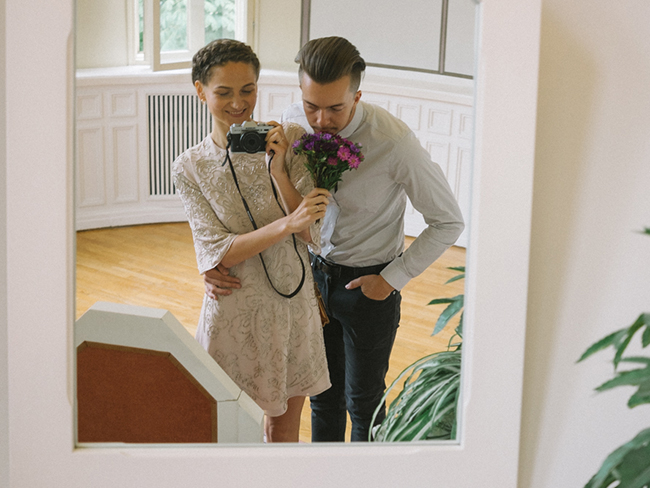 This bride snapped her own wedding photos