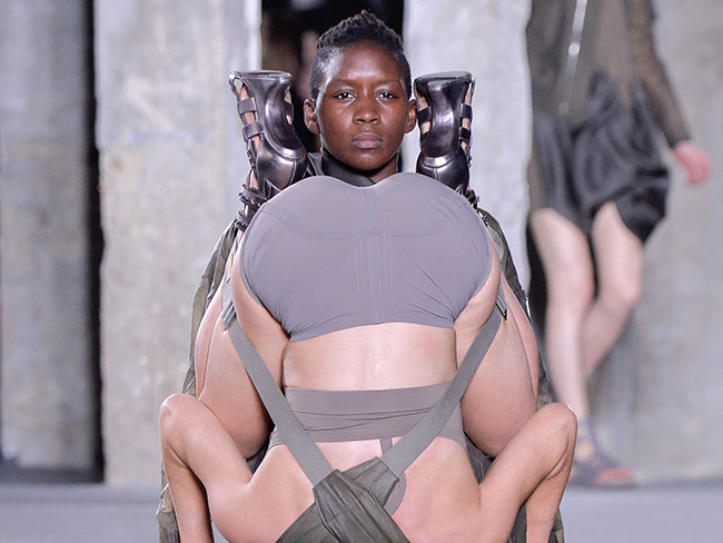 There were 69ers happening on the runway at the Rick Owens fashion show in Paris