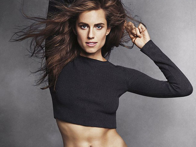 Girls star Allison Williams FLAUNTS abs in topless fashion shoot