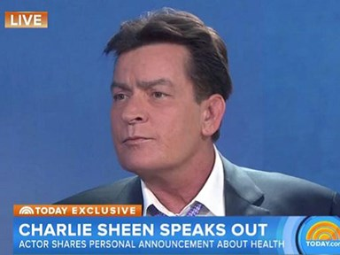 "Charlie Sheen on the Today show: ""I'm HIV positive"""