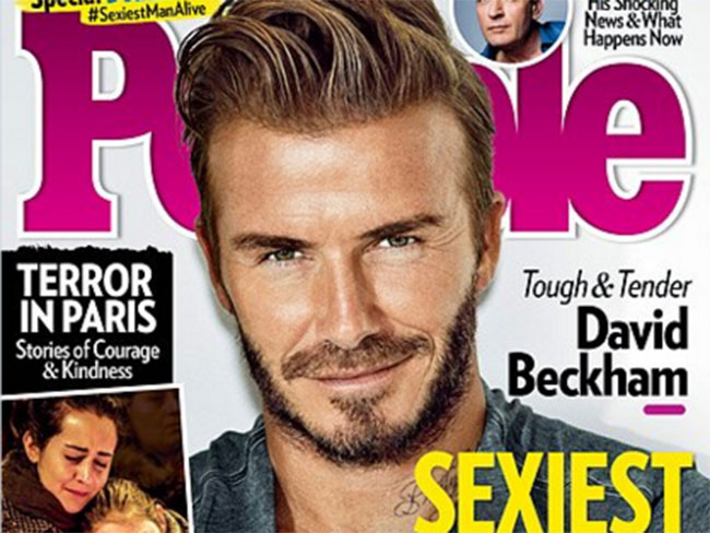 15 sexy moments of People magazine's sexiest man alive, David Beckham