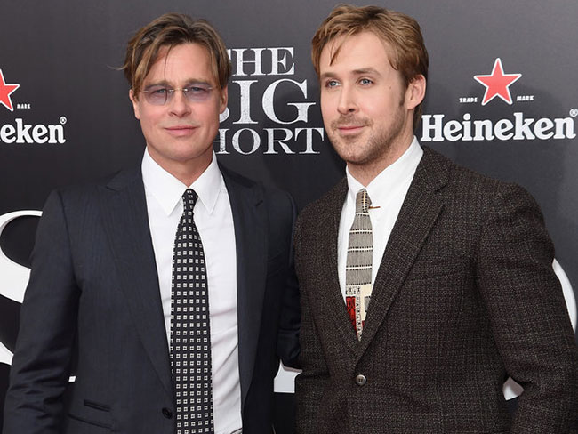 Brad Pitt and Ryan Gosling together at The Big Short premiere makes us ~sWoOoN~