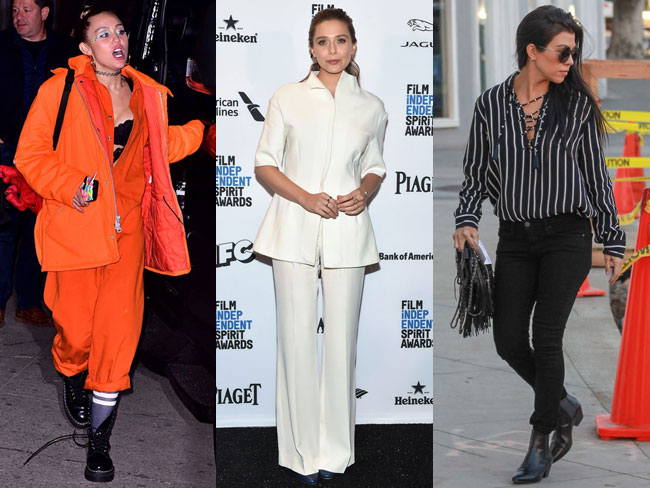 Celebrities wearing things in November