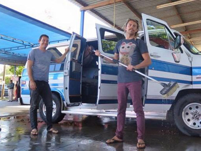 The burnt-out van with two bodies belongs to missing Australian surfers