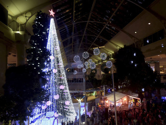 Aussie guy has set the Guinness World Record for the most amount of lights on an artificial Xmas tree