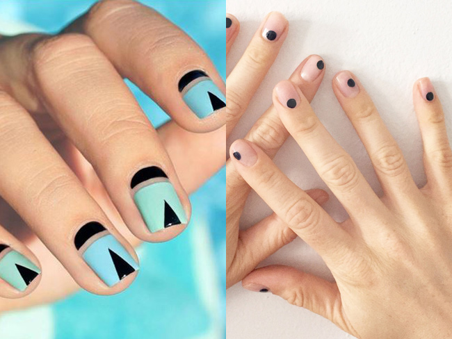 ALL of the negative space nail art inspo you'll ever need
