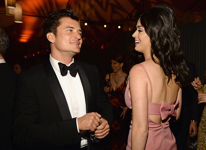 OOOH: Katy Perry and Orlando Bloom leave Globes party together