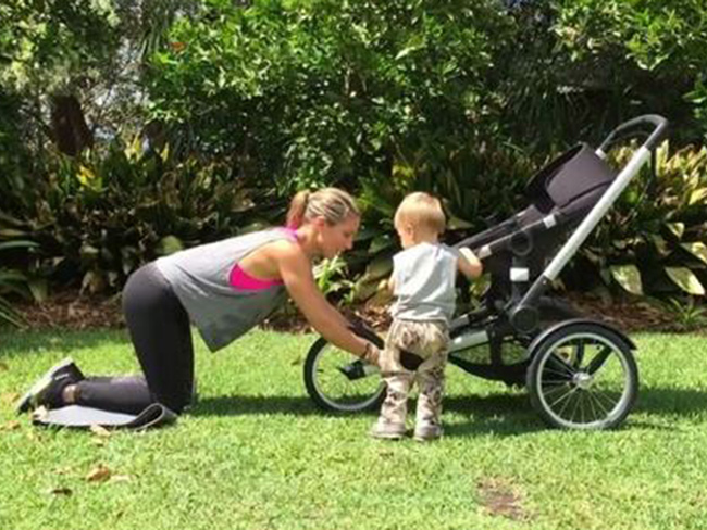 Elsa Pataky working out with her son is the cutest thing EVER