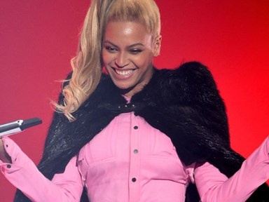 Beyonce *attempted* to sneak around a college campus for Super Bowl practice