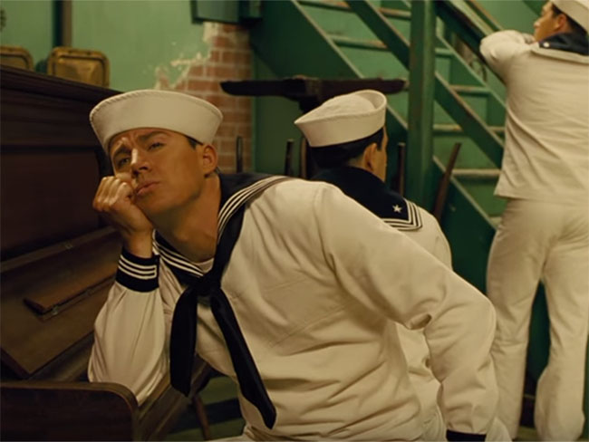 Let Channing Tatum serenade you in a sailor suit because you DESERVE this