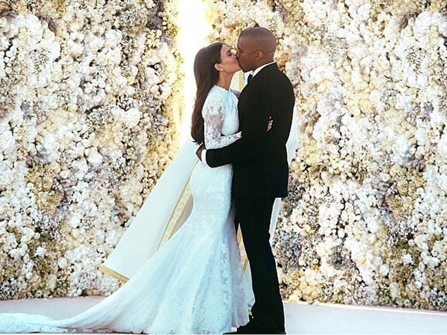 The most liked celeb wedding photos on Instagram