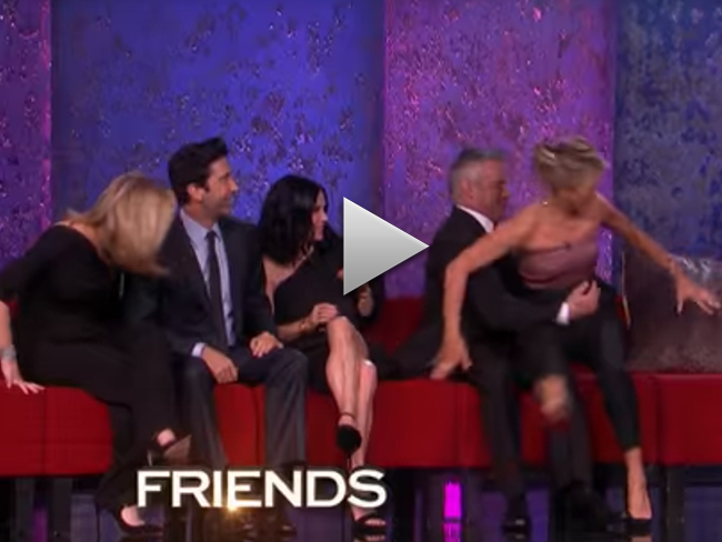 Oh… My… God… It's the first real look at the Friends reunion!