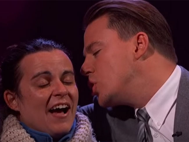 Watch Channing Tatum make a random stranger's entire life by becoming her Valentine