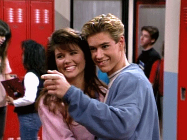 Zack Morris and Kelly Kapowski from Saved by the Bell reunited and it was adorable