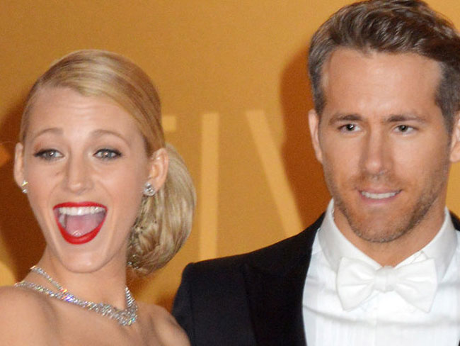Ryan Reynolds gets cheeky with Blake Lively's boob