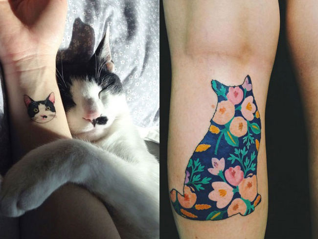14 impossibly cute cat tattoos to show off your cat love forever