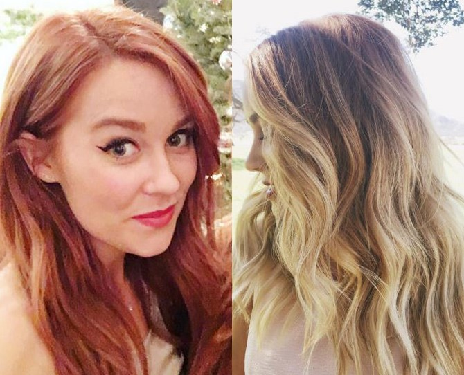 Lauren Conrad has waved goodbye to her vibrant rose gold shade and has seemingly bounced right back to blonde. We wonder how many hours it took...