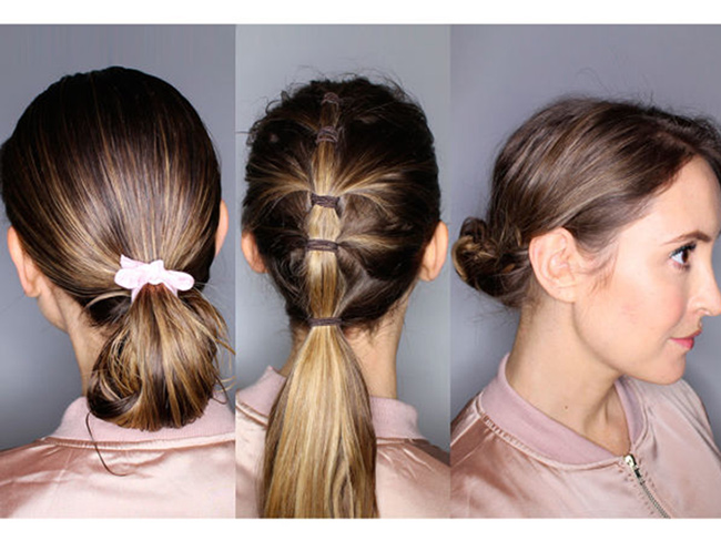 5 speedy gym hair tutorials