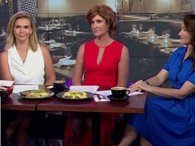 The Sunrise presenters re-enacting SATC with Kristin Davis will make you die inside