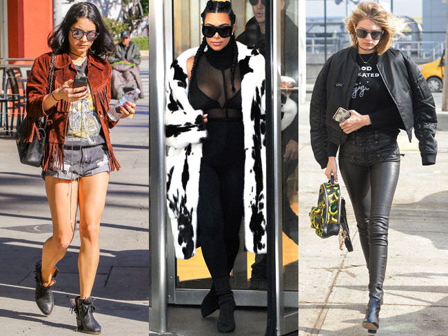 Celebrities wearing things in February