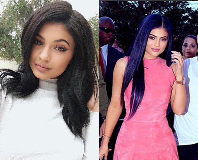How gorge is Kylie's new navy hair?! People* [writes](http://stylenews.peoplestylewatch.com/2016/03/11/kylie-jenner-debuts-navy-hair-at-sugar-factory-orlando-grand-opening/?utm_source=feedburner&utm_medium=feed&utm_campaign=Feed%3A+people%2Fstylewatch%2Fofftherack+%28PEOPLE.com%3A+Style+Watch+-+Off+The+Rack%29&utm_content=FaceBook&xid=socialflow_facebook_peoplestyle) that the hair is a wig from wig genius  [Tokyo Stylez](https://www.instagram.com/tokyostylez/), but it's stunning regardless. Cue everyone dyeing their hair navy...