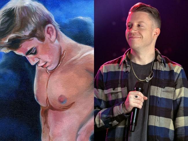 Macklemore's painting of Justin Bieber