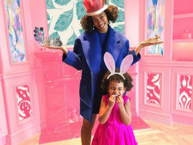 Beyoncé, Solange and Blue Ivy had the most adorbs pre-Easter party