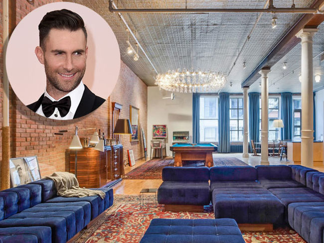 Adam Levine is selling his NYC loft for $5.5 million