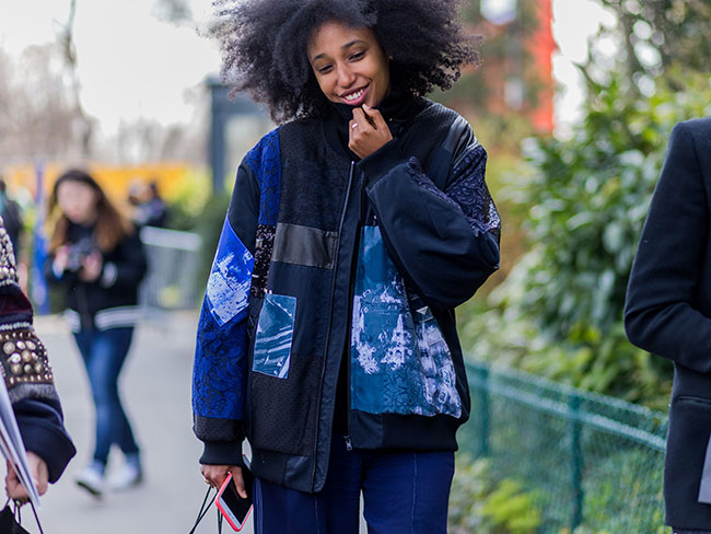 20 street style looks that prove the bomber jacket is the only jacket you'll need this winter